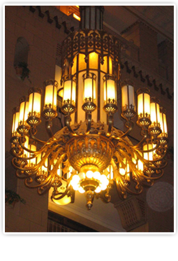Pittsfield Building Chandelier